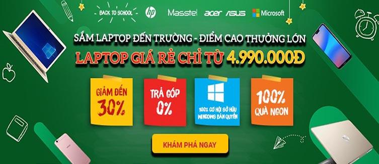 Laptop giá chỉ từ 4.9 triệu đồng