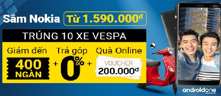 Sắm Nokia Giá Tốt Trúng 10 Xe Vespa LX